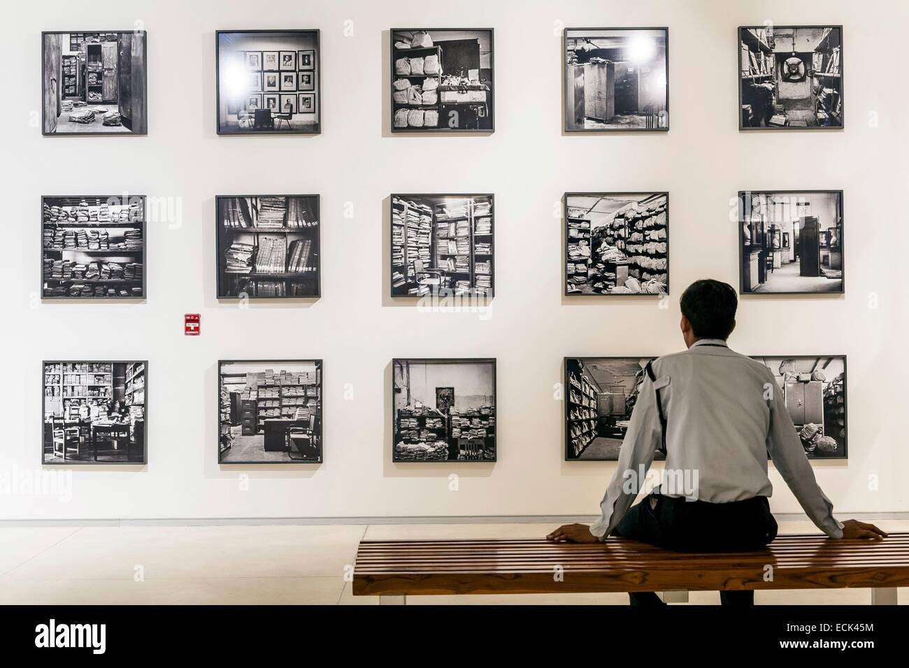 India, New Delhi, Kiran Nadar Museum of Art (KNMA) opened in 2010 and is the first private museum of modern and - Stock Image