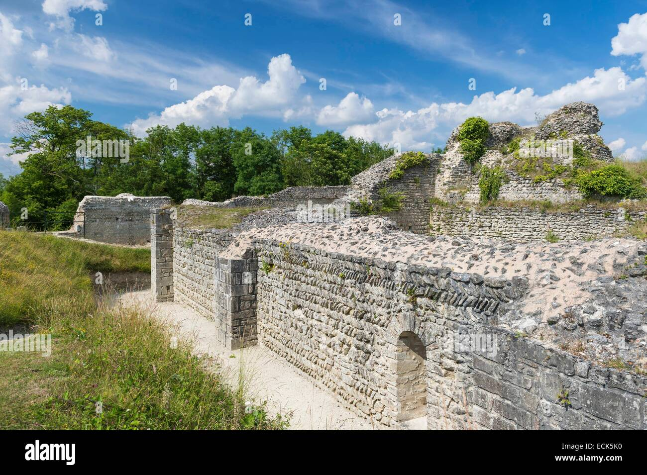 France, Eure, Ivry la Bataille, late 10th century military fortress - Stock Image