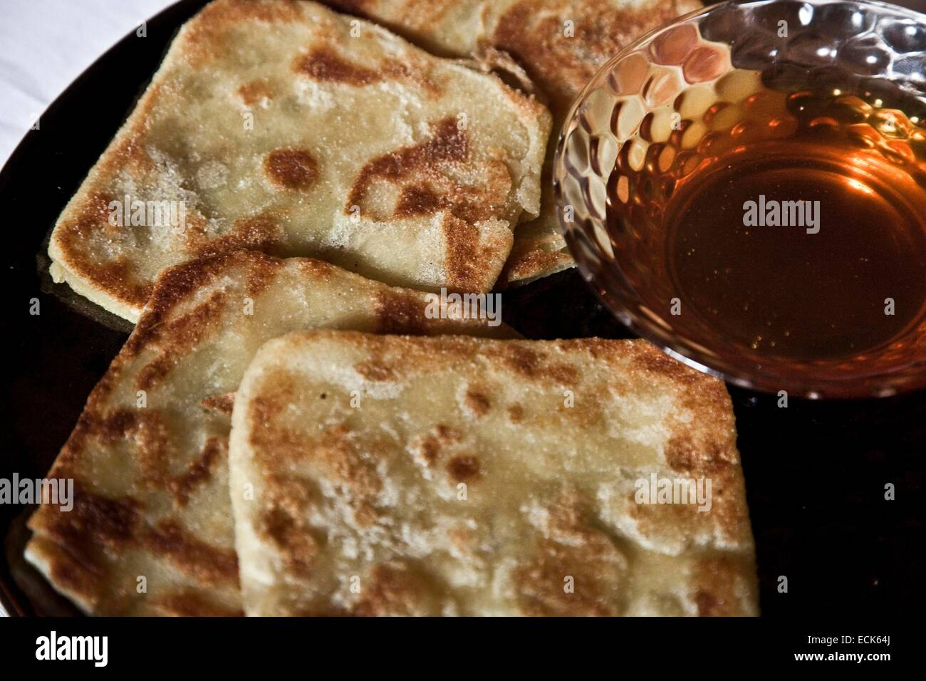 Morocco, Great South, crepes berbers and honey - Stock Image