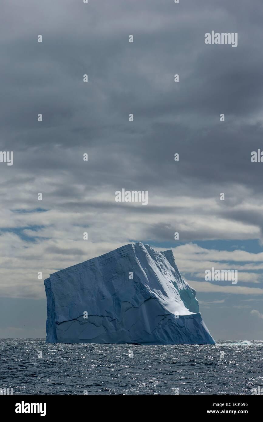 South Atlantic Ocean, South Georgia Island, iceberg - Stock Image
