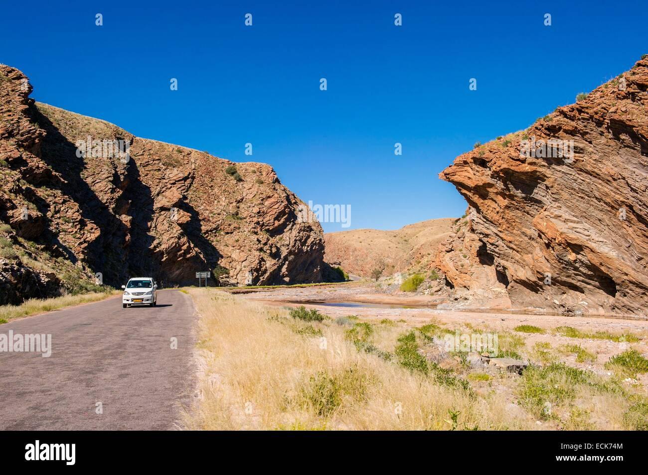 Namibia, Hardap region, Namib desert, Namib Sand Sea listed as World Heritage by UNESCO, Kuiseb canyon - Stock Image