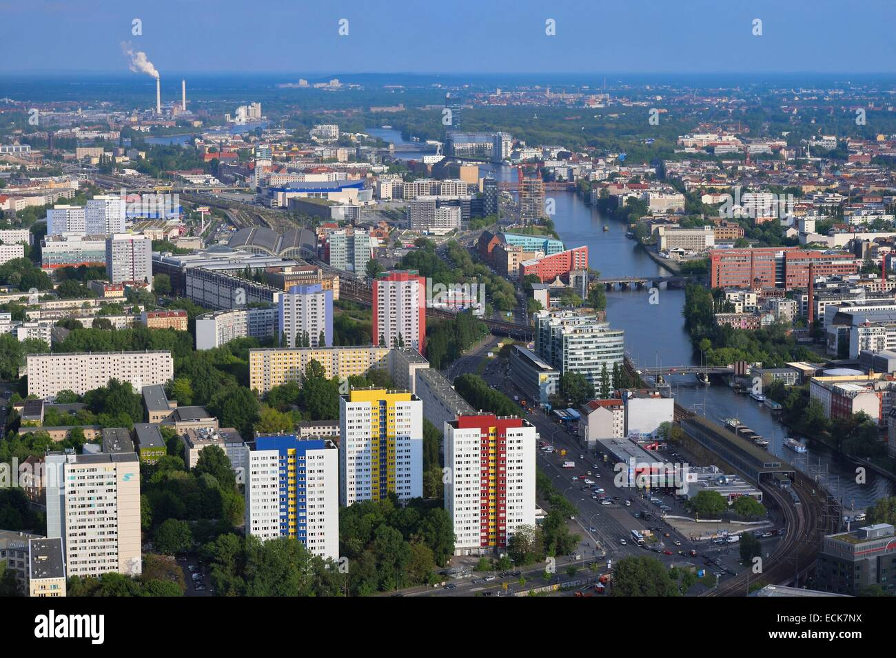 Germany, Berlin, Berlin-Mitte, the River Spree towards East - Stock Image