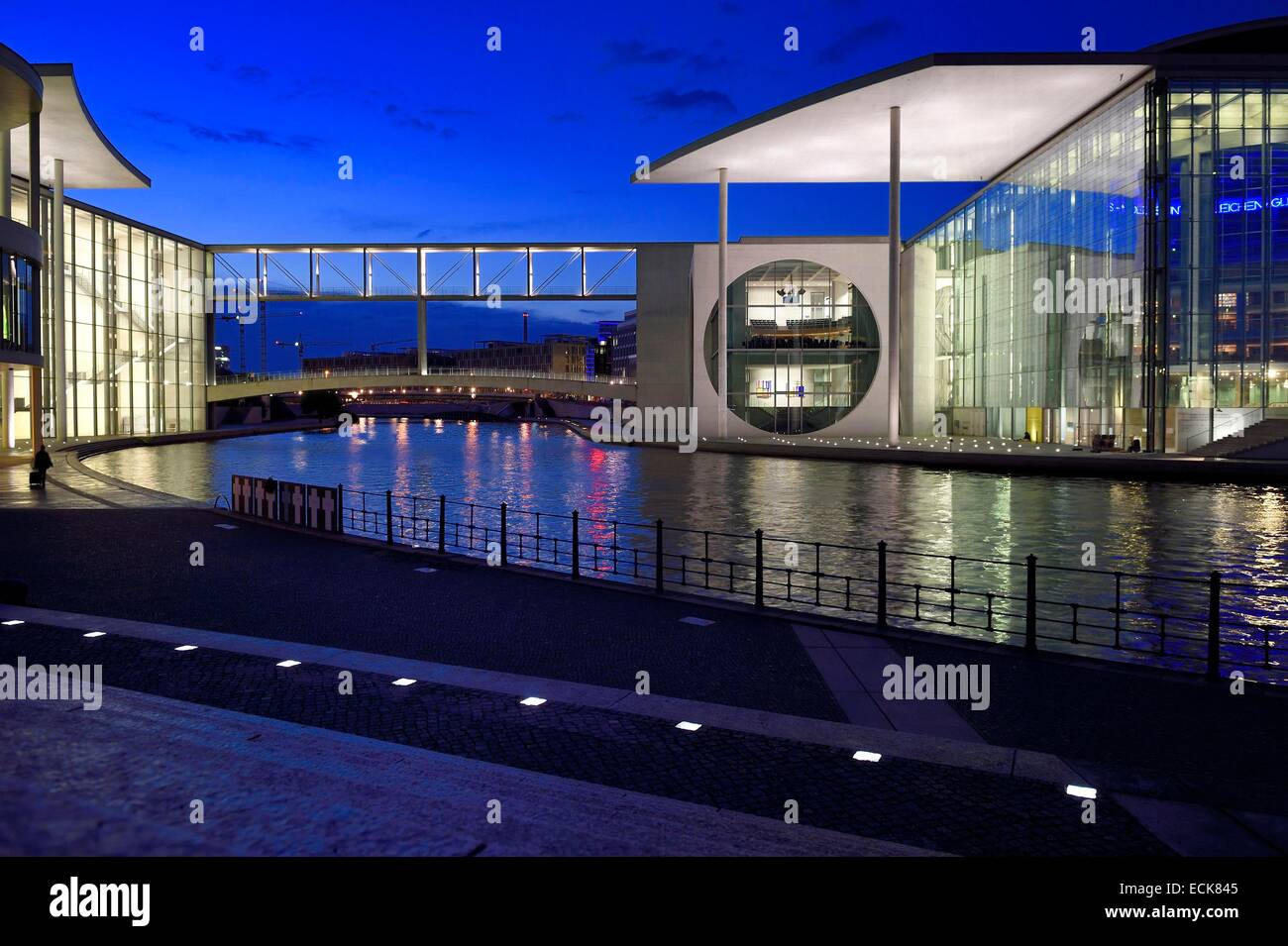 Germany, Berlin, Bundestag, the Paul-Lobe Haus left and the Marie Elisabeth Luders Haus right by architect Stephan - Stock Image