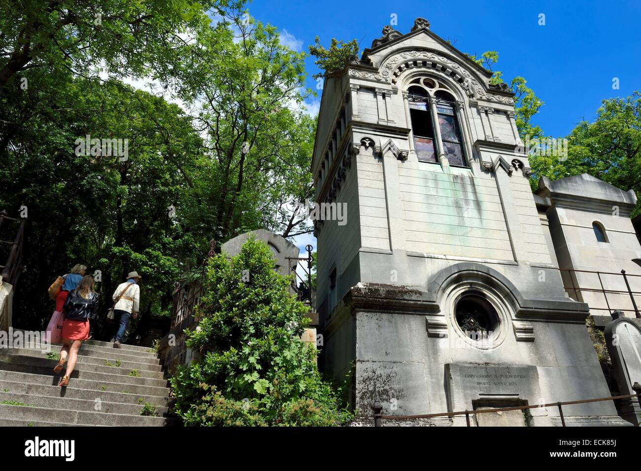France, Paris, the Pere-Lachaise cemetery - Stock Image