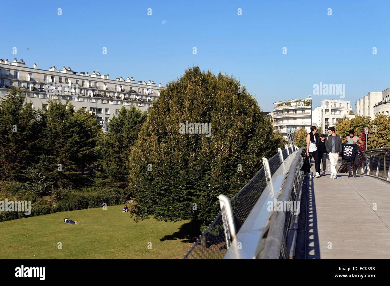 France, Paris, garden of Reuilly which is halfway located of Planted Walk (Promenade Plantee) - Stock Image