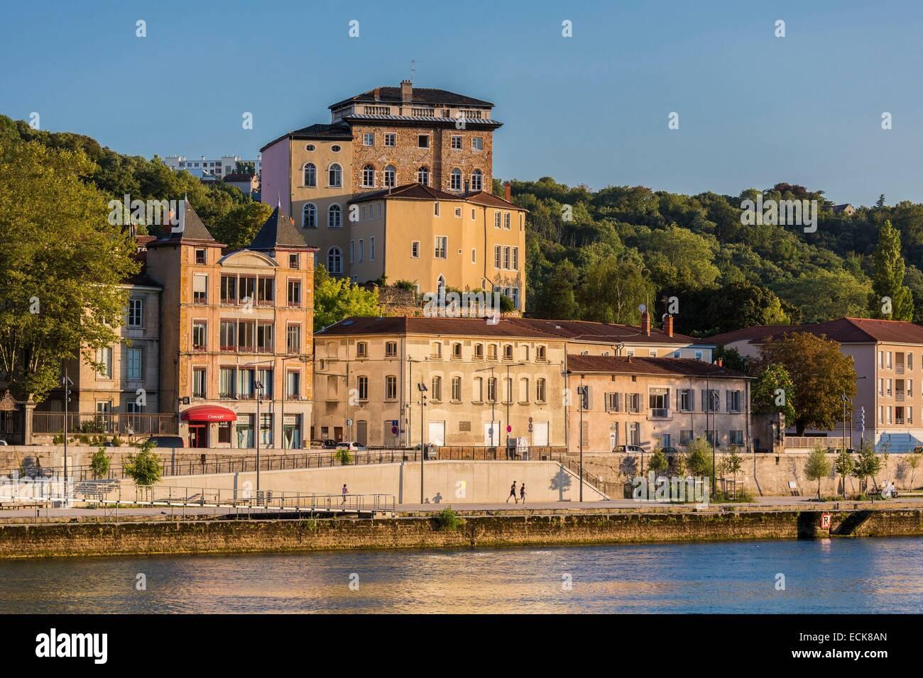 France, Rhone, Lyon, Caluire et Cuire, quay Georges Clemenceau - Stock Image