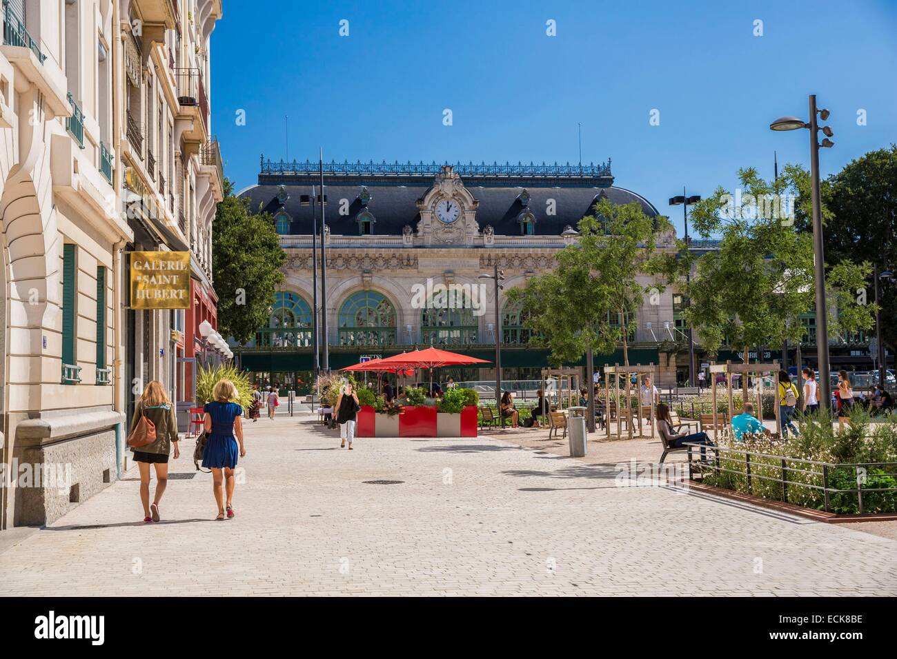France, Rhone, Lyon, the former Brotteaux train station since the place Jules Ferry - Stock Image