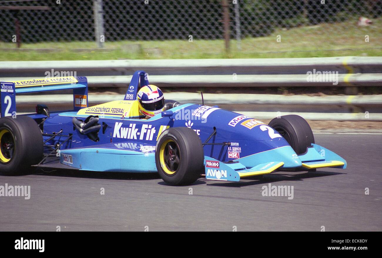 Helio Castro Neves british formula 3 championship test day 1995, 23 june 1995 oulton park.Stock Photo
