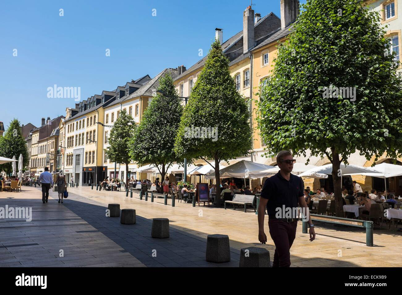 france moselle thionville the old city market square and its stock photo 76641805 alamy. Black Bedroom Furniture Sets. Home Design Ideas