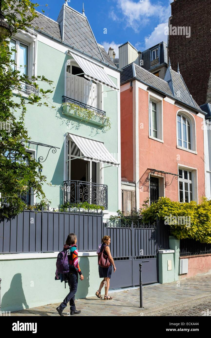 Residence Maison Blanche Lille middle class houses stock photos & middle class houses stock