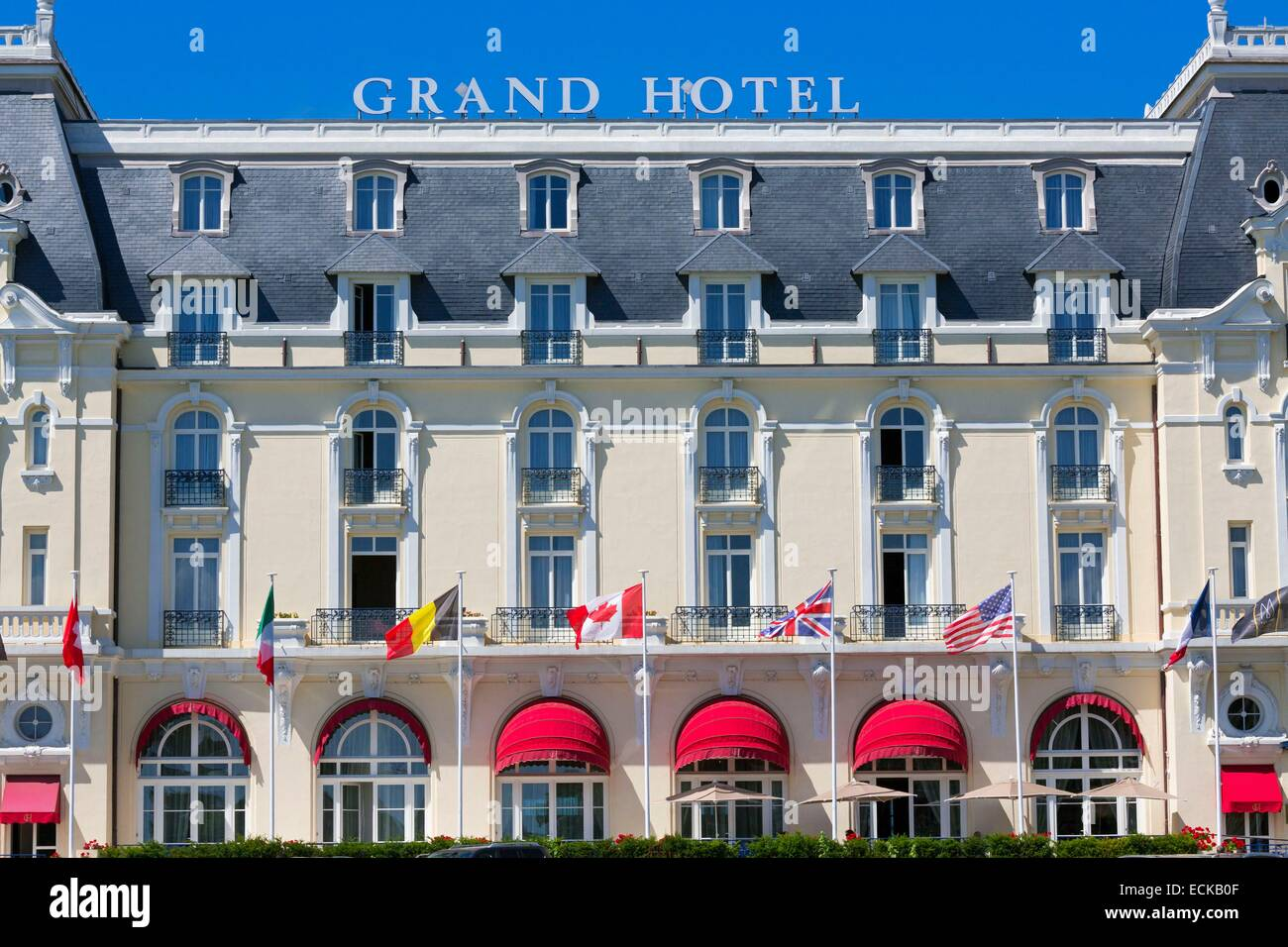 France, Calvados, Cabourg, the Grand Hotel - Stock Image