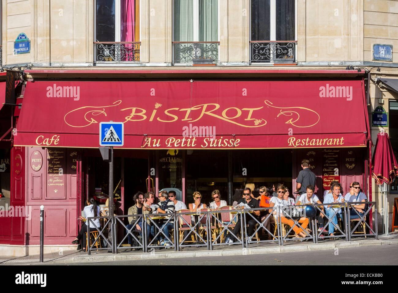 France, Paris, Odeon, coffee Au Petit Suisse - Stock Image