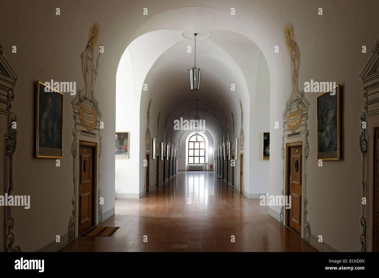 Austria, Tyrol, Inntal valley, Stams citercian Abbey Stock Photo
