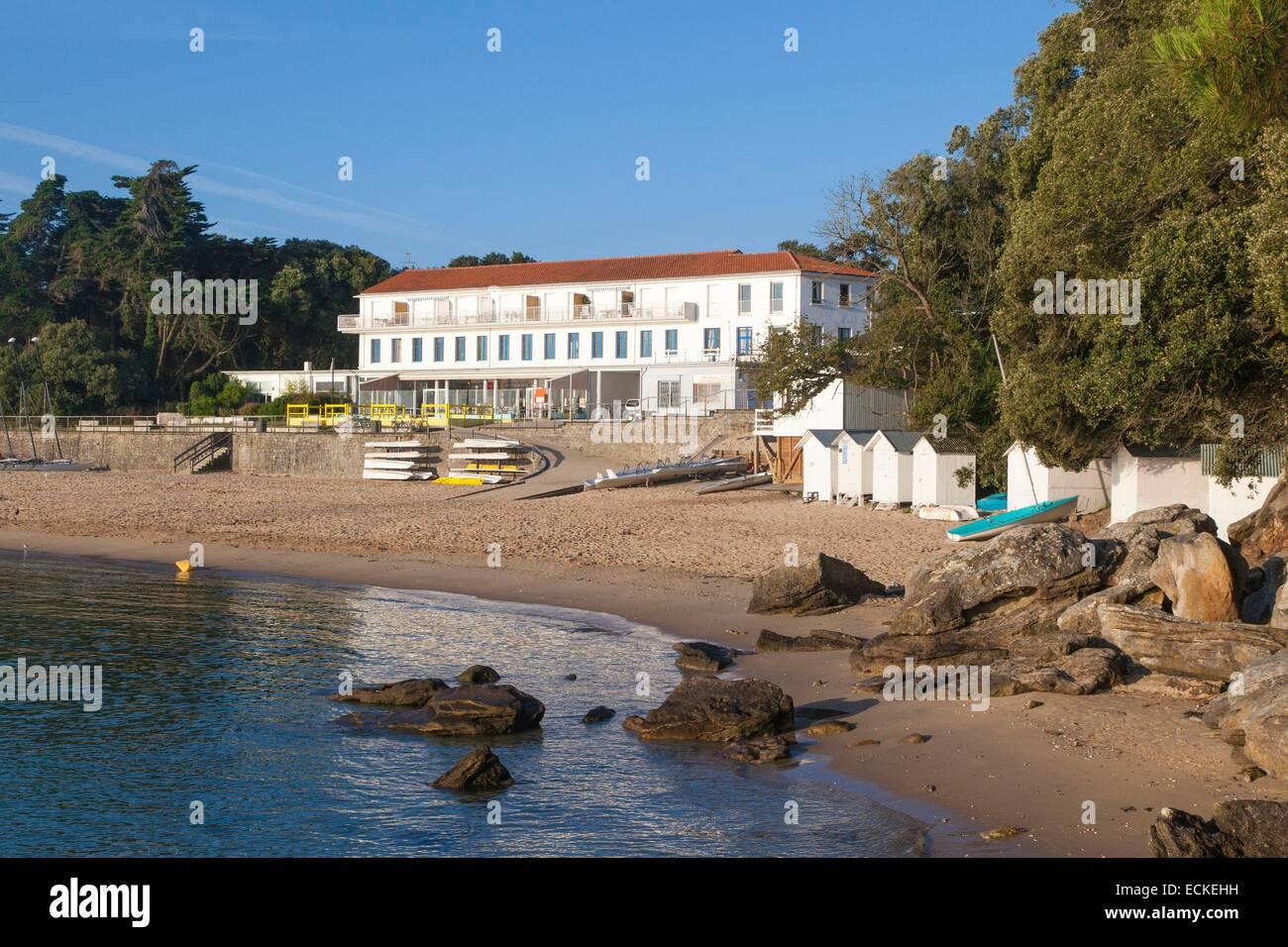 France Vendee Ile De Noirmoutier Bois La Chaise Beach Des Dames And Restaurant That Served As Backdrop To The Film Holiday Breakfast Nicolas