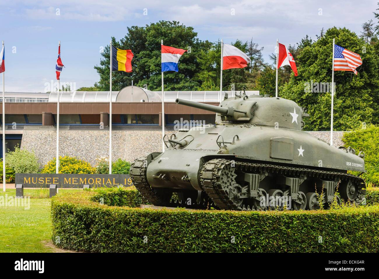 France, Calvados, Bayeux, the Battle of Normandy Museum retraces the 77 days of fighting between june and august 1944 Stock Photo