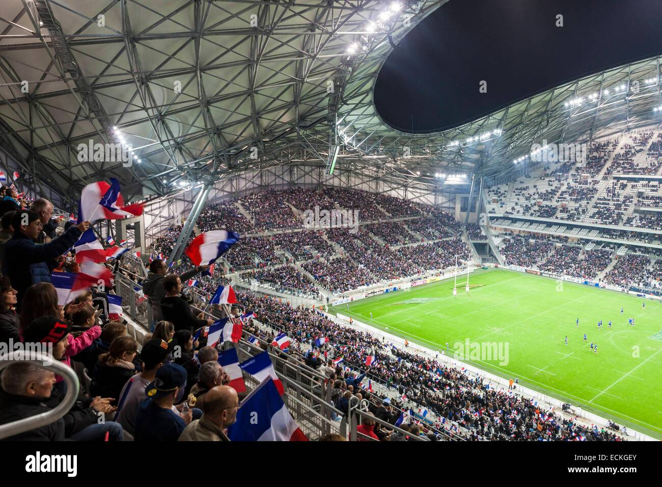 France, Bouches du Rhone, Marseille, Rond Point du Prado district, the Stade Velodrome - Stock Image