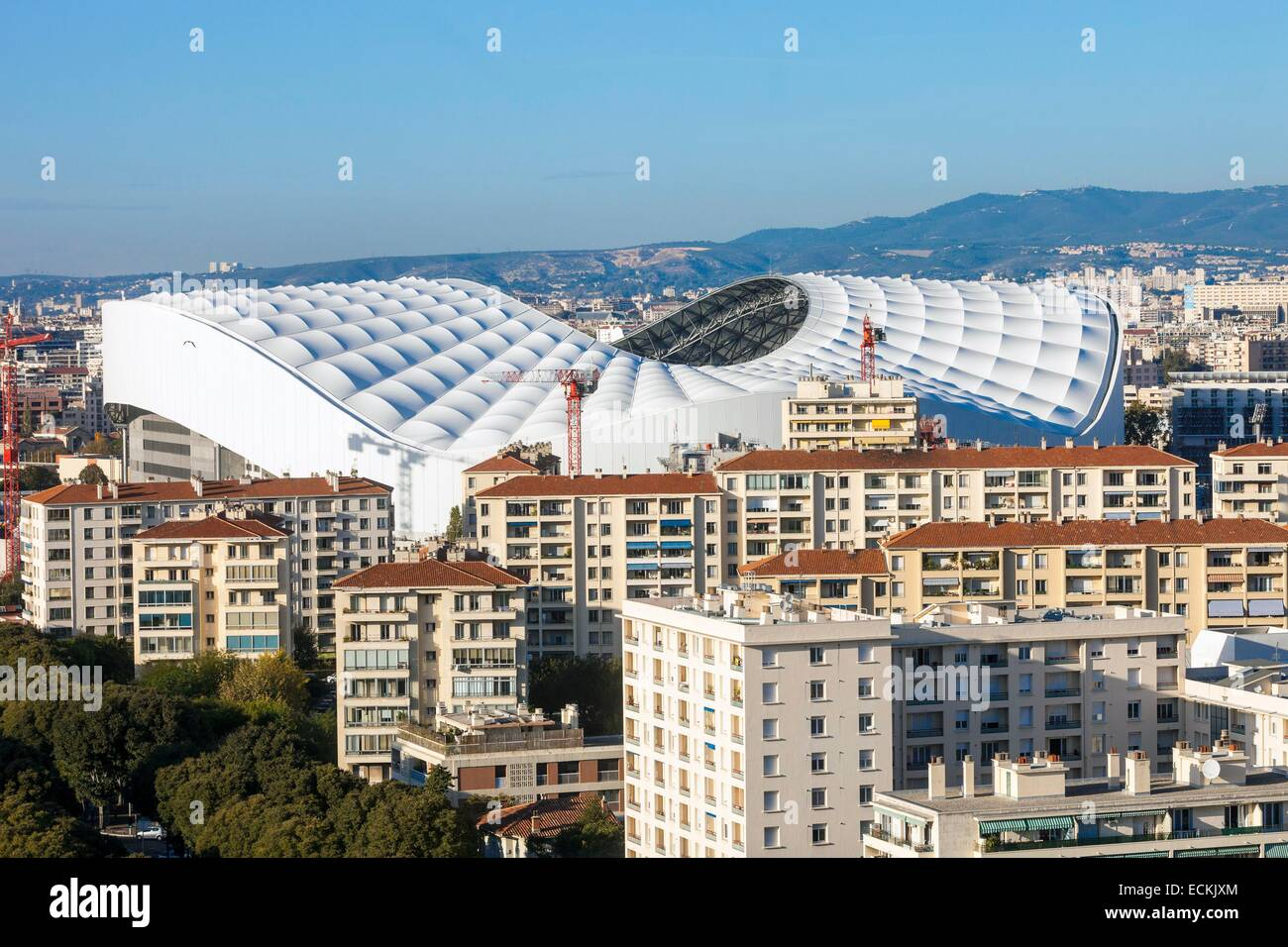 France, Bouches du Rhone, Marseille, the Stade VΘlodrome - Stock Image