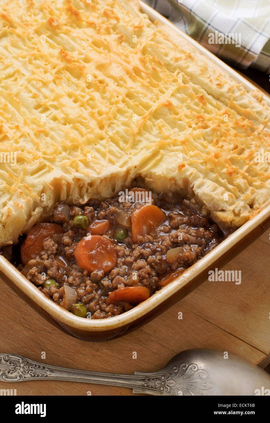 Cottage Pie Or Shepherds Pie Is A Mince Meat And Vegetable