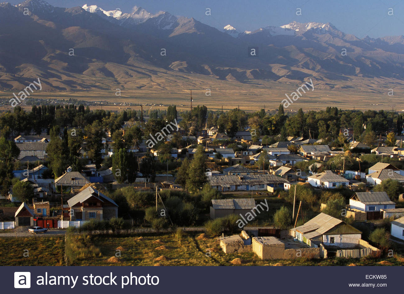 Kyrgyzstan, Village of Naryn. - Stock Image