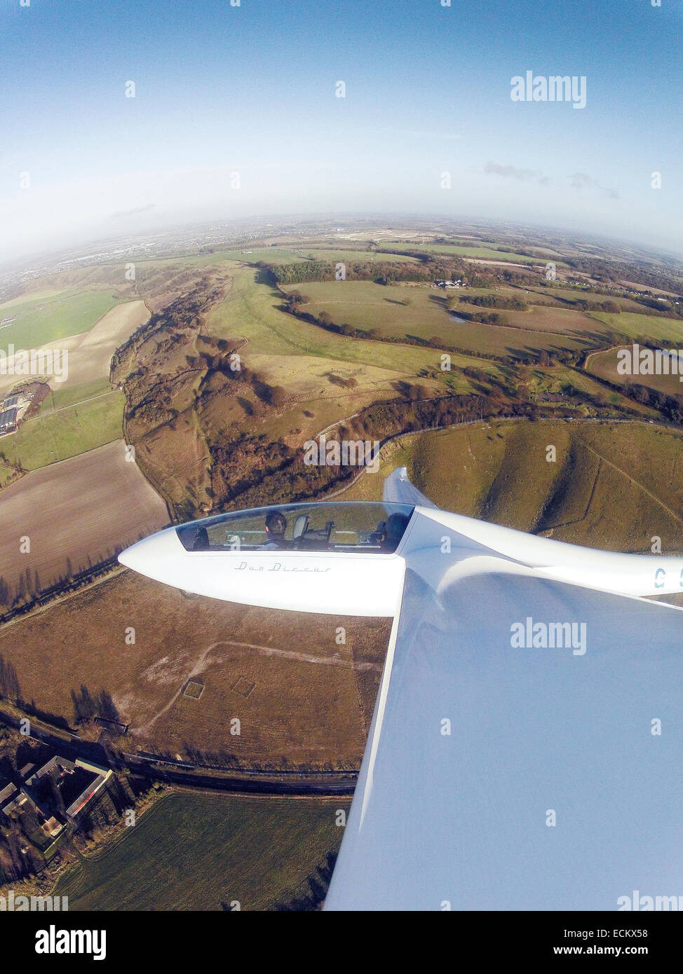 Wings over Ivinghoe Beacon - Stock Image