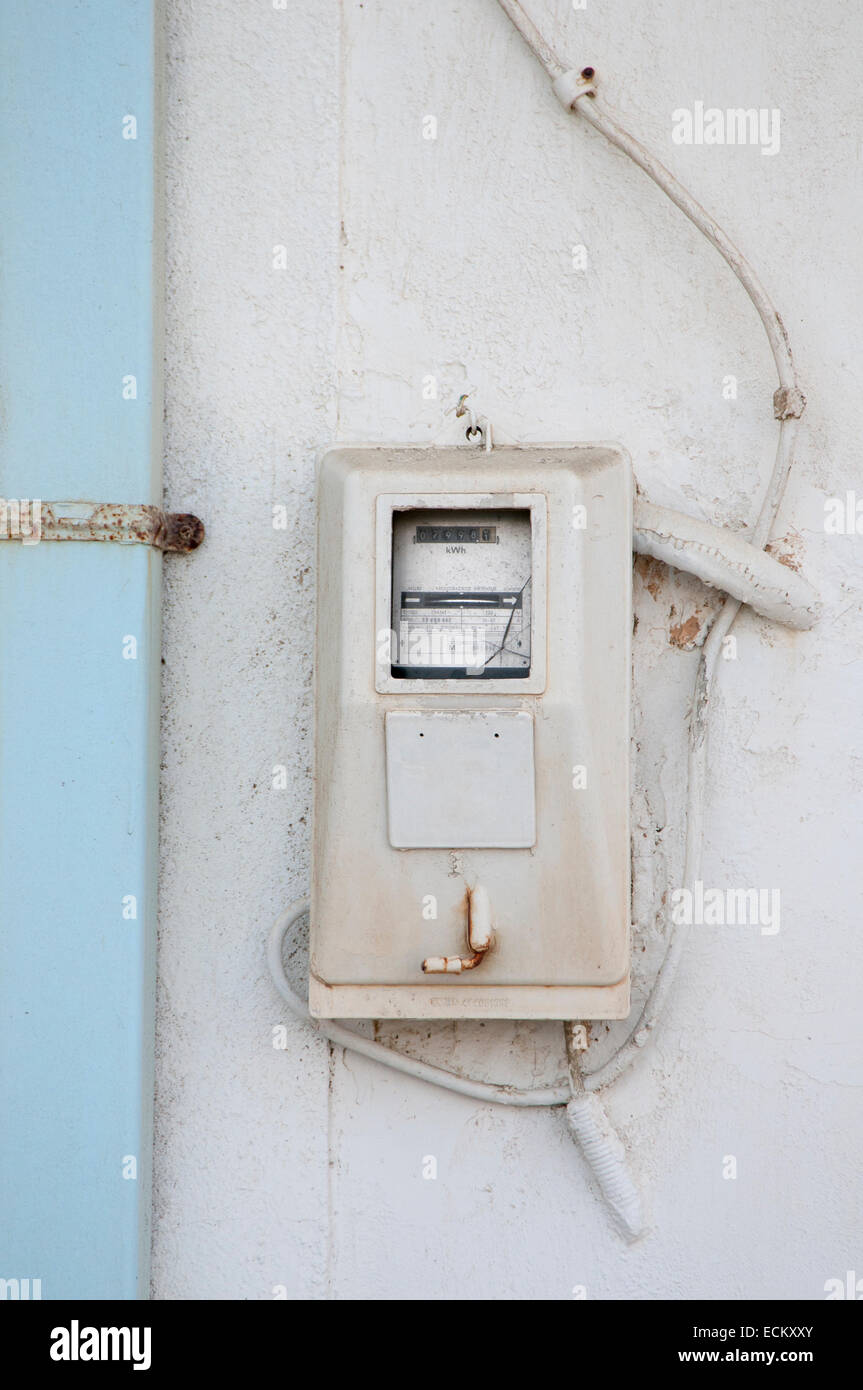 Electric Wiring Outside Old House Stock Photos & Electric Wiring ...