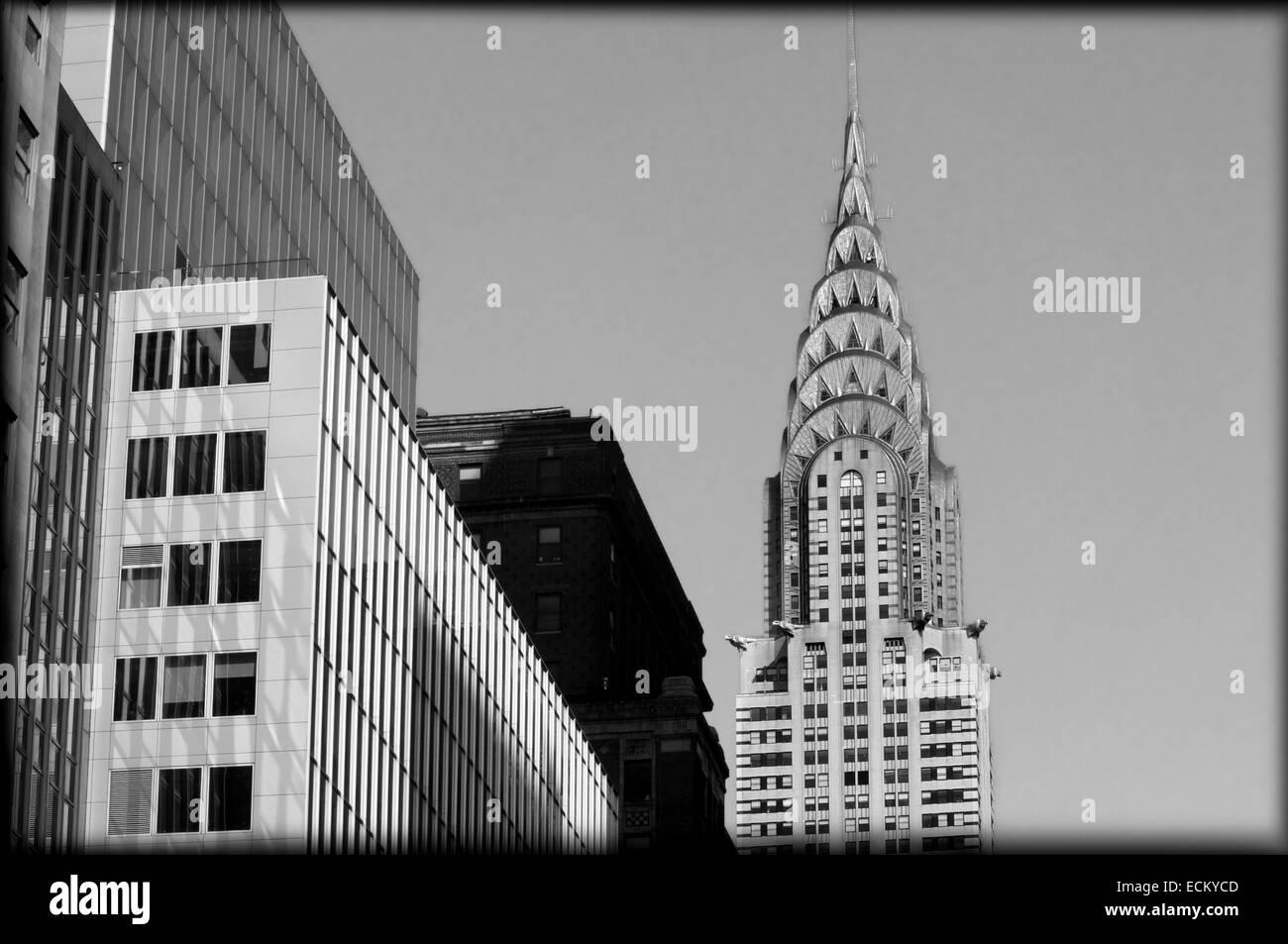 United States, New York City, Manhattan, Chrysler Building - Stock Image