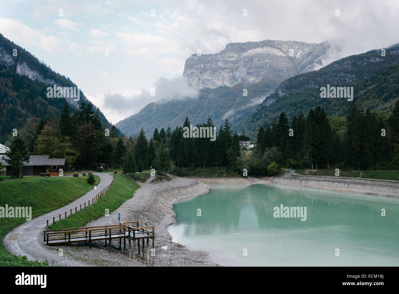 Fishing Lake in Thônes -  France Stock Photo