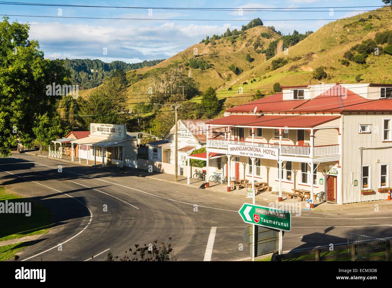 Whangamomona Township, North Island, New Zealand - Stock Image