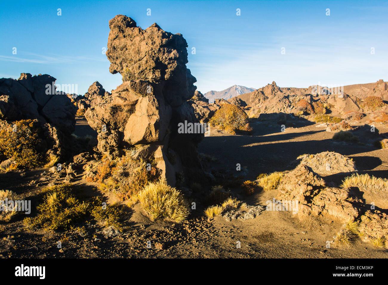 Mt. Ruapehu, Northern Circuit hike, Tongariro National Park, North Island, New Zealand - Stock Image