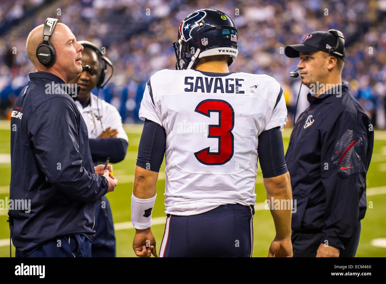 8567e8fa Houston Texans quarterback Tom Savage (3) talks to the coaching ...