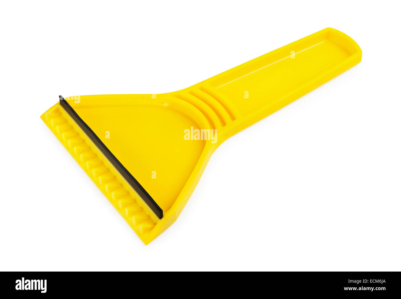 Ice scraper on a white  background - Stock Image