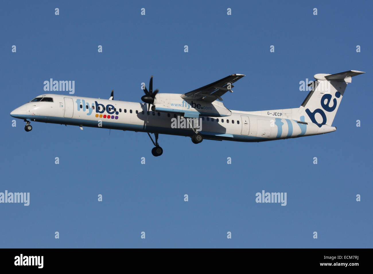 FLYBE DHC8 DASH 8 BOMBARDIER - Stock Image