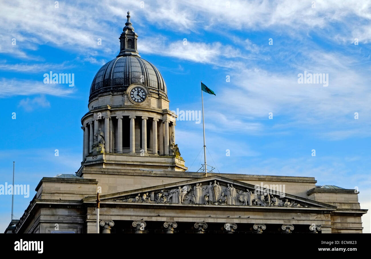 Nottingham City Hall Council House Building Market Square Nottingam England EU European Union Europe - Stock Image