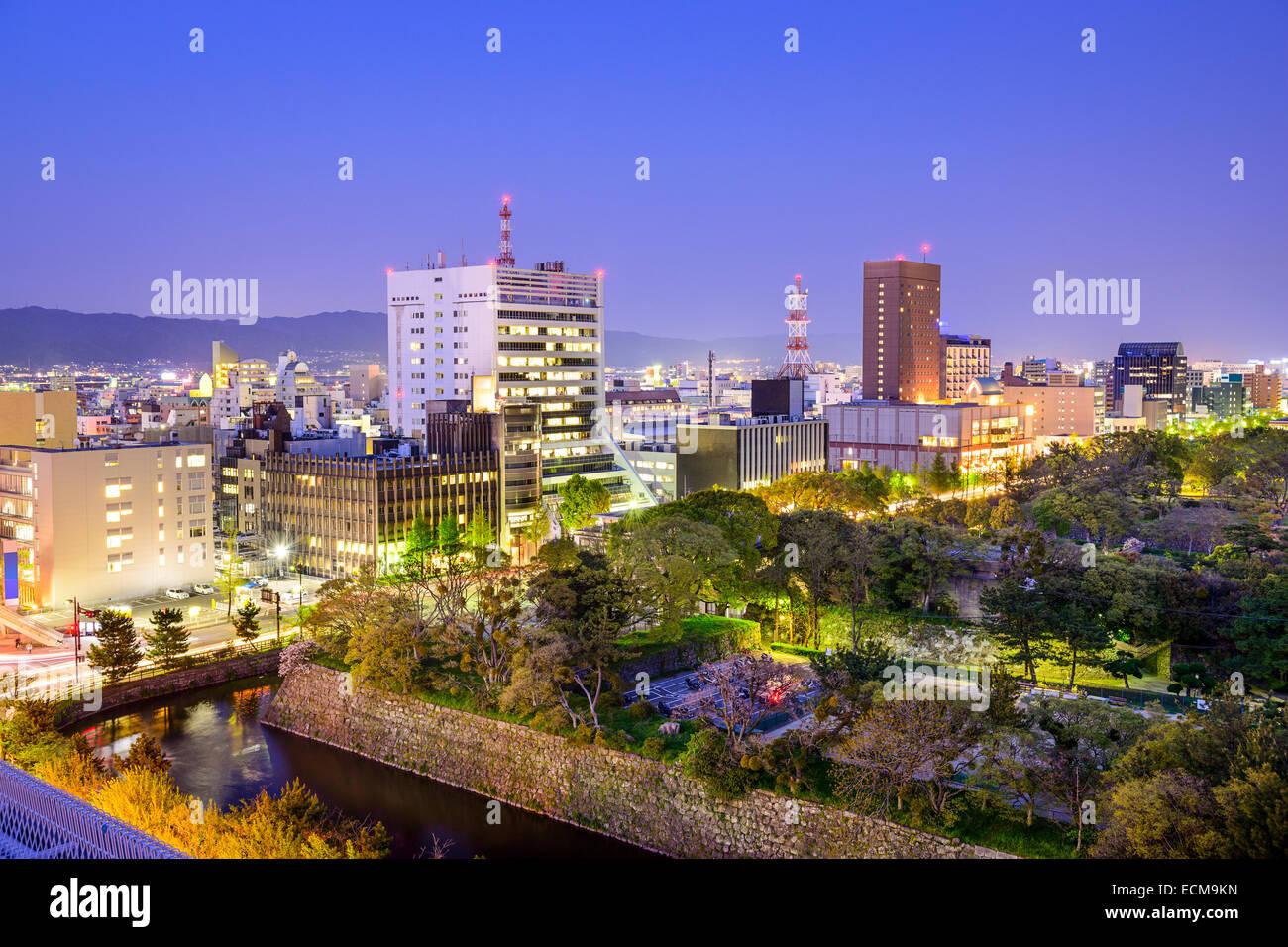 Wakayama City, Japan cityscape at twilight. - Stock Image
