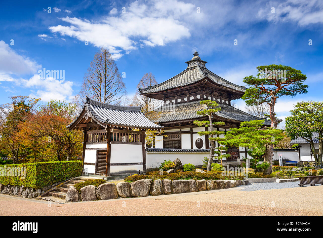Kyoto, Japan buildings on the grounds of Tofuku-ji Temple. - Stock Image
