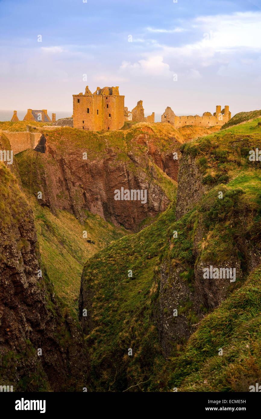Dunnottar Castle, Scotland, United Kingdom - Stock Image
