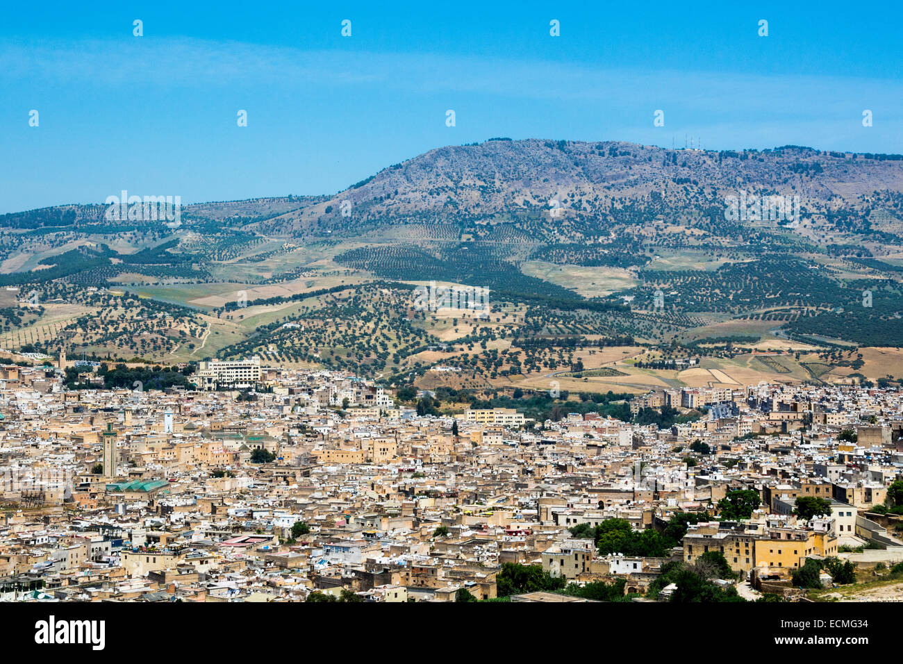 A view of Fes, Fez, Morocco - Stock Image