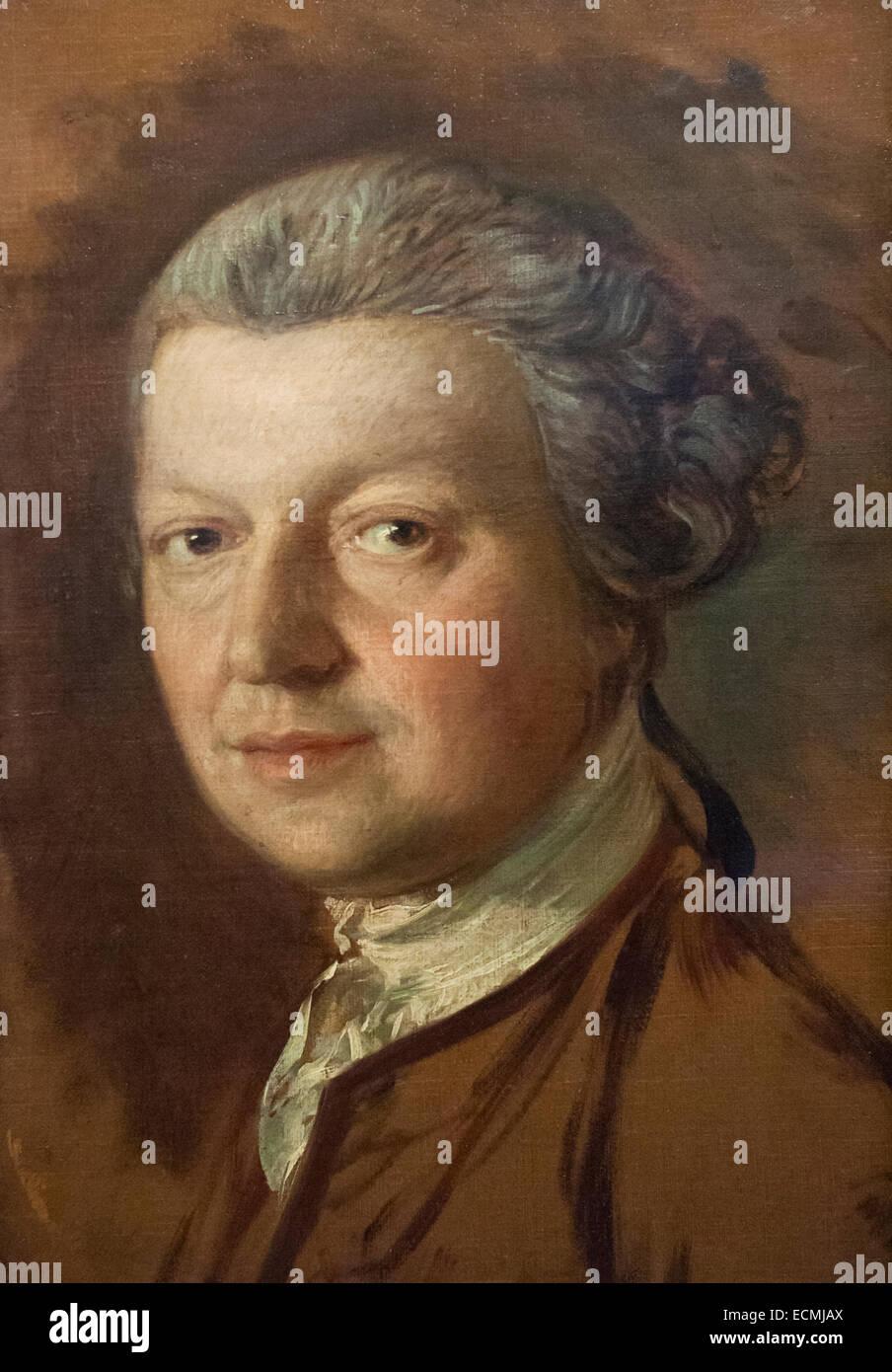 John Joshua Kirby, by Thomas Gainsborough - Stock Image