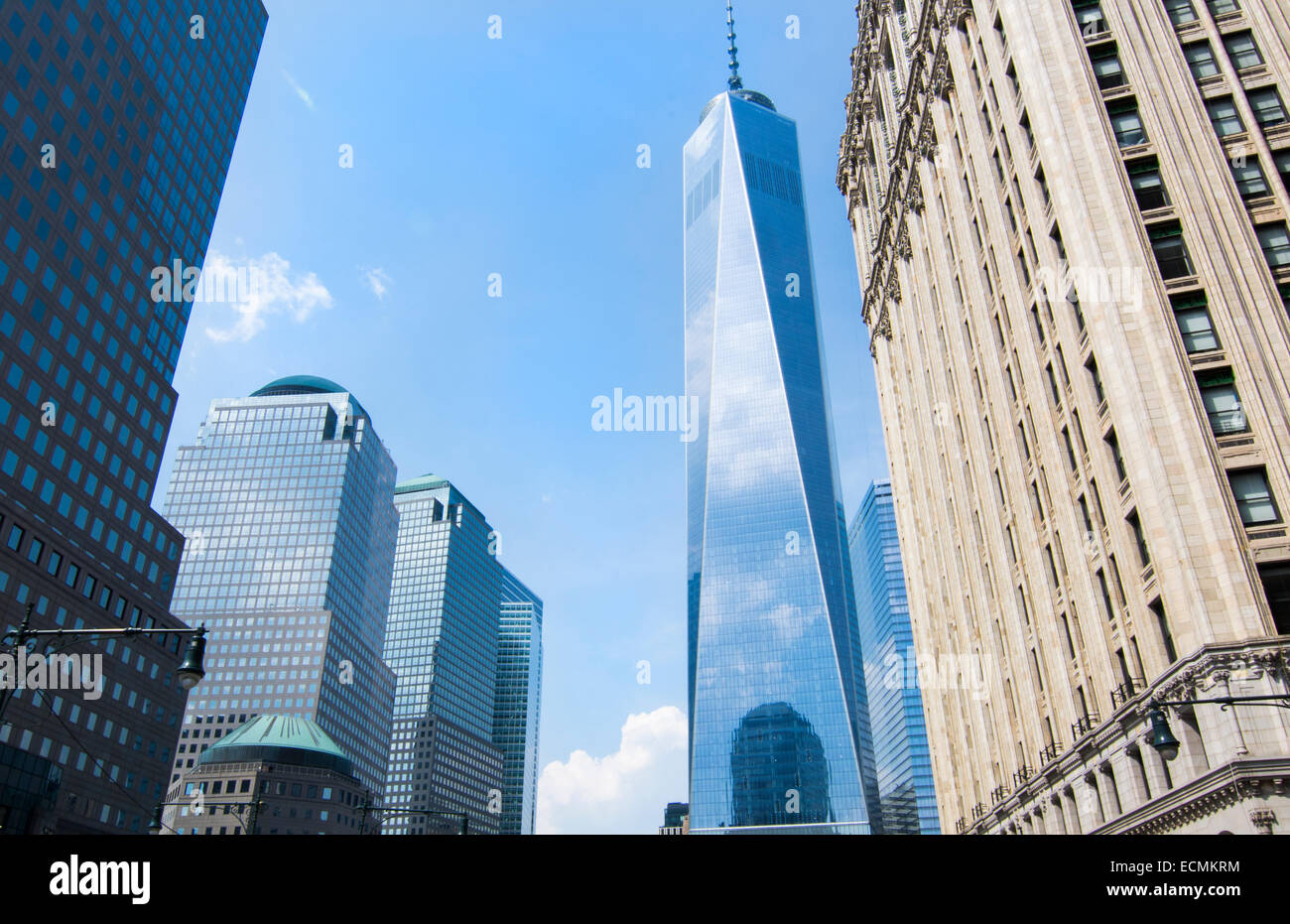 New York City New York new World Tade Center building in downtown Manhattan - Stock Image
