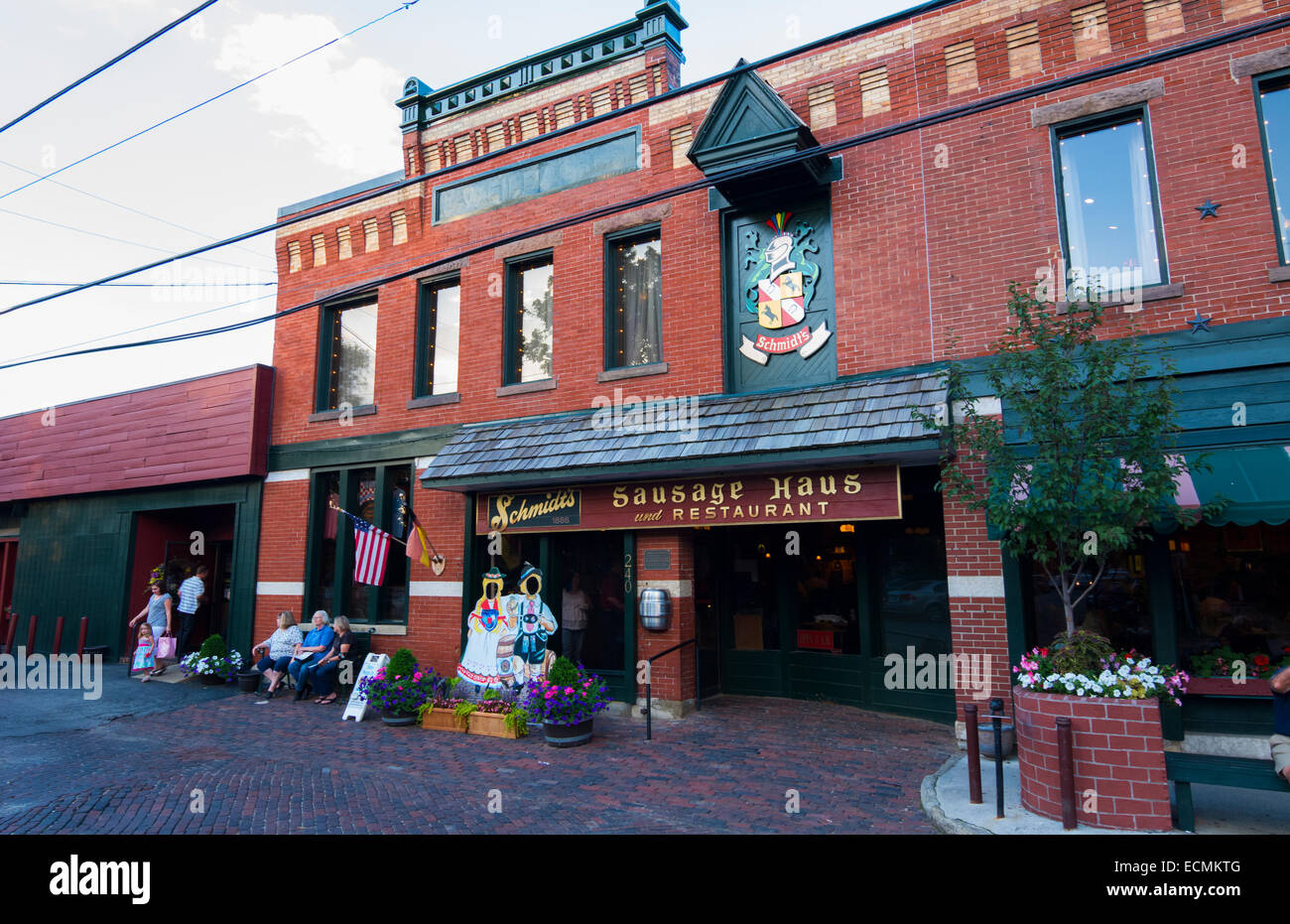 Columbus Ohio famous Schmidts Sausage Haus restaurant German food in