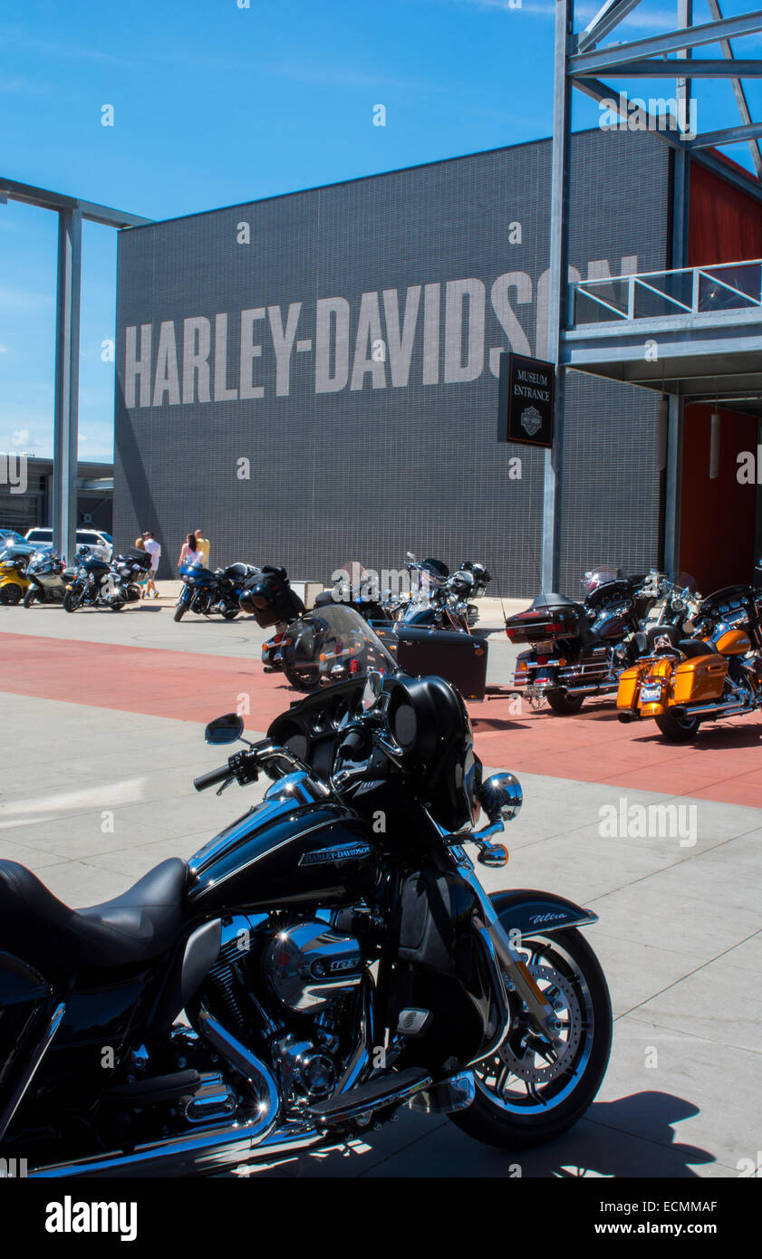 Milwaukee Wisconsin downtown Harley Davidson Museum founded