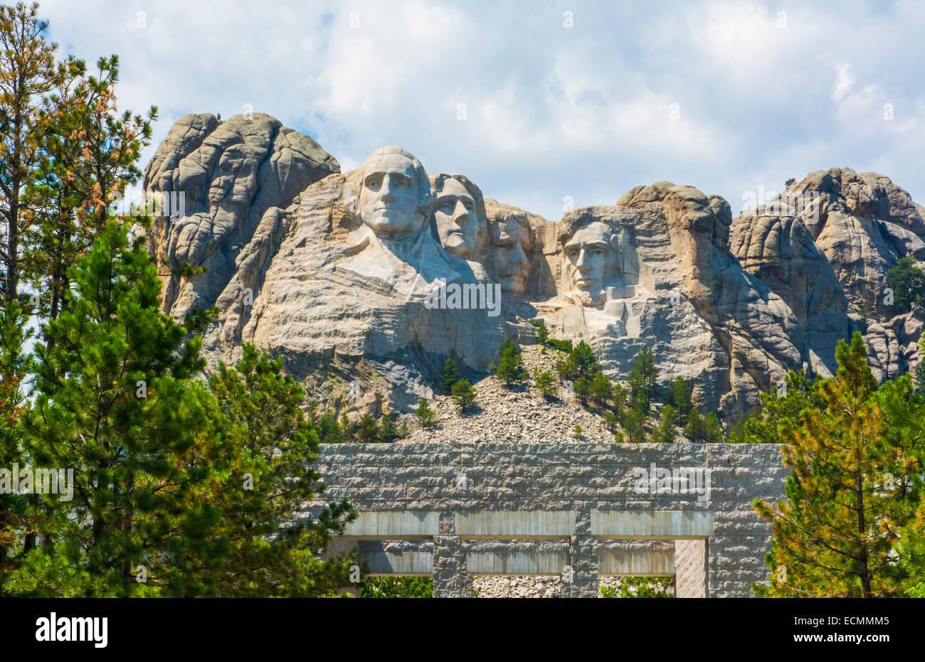Mount Rushmore South Dakota Keystone  National Memorial of  Presidents in stone on mountain landmark attraction - Stock Image