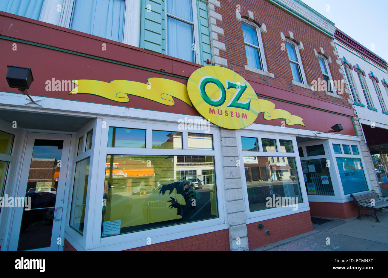 Wamego Kansas home of Oz Museum  from The Wizard of Oz going home to Kansas in downtown village on Lincoln Avenue - Stock Image