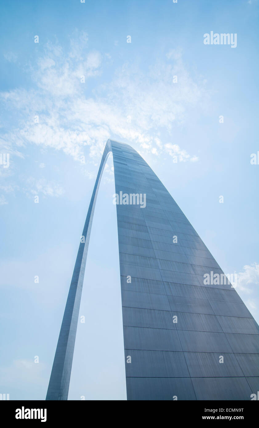 St Louis Missouri The Gateway Arch or St Louis Arch 630 feet high built in 1963 steel arch - Stock Image