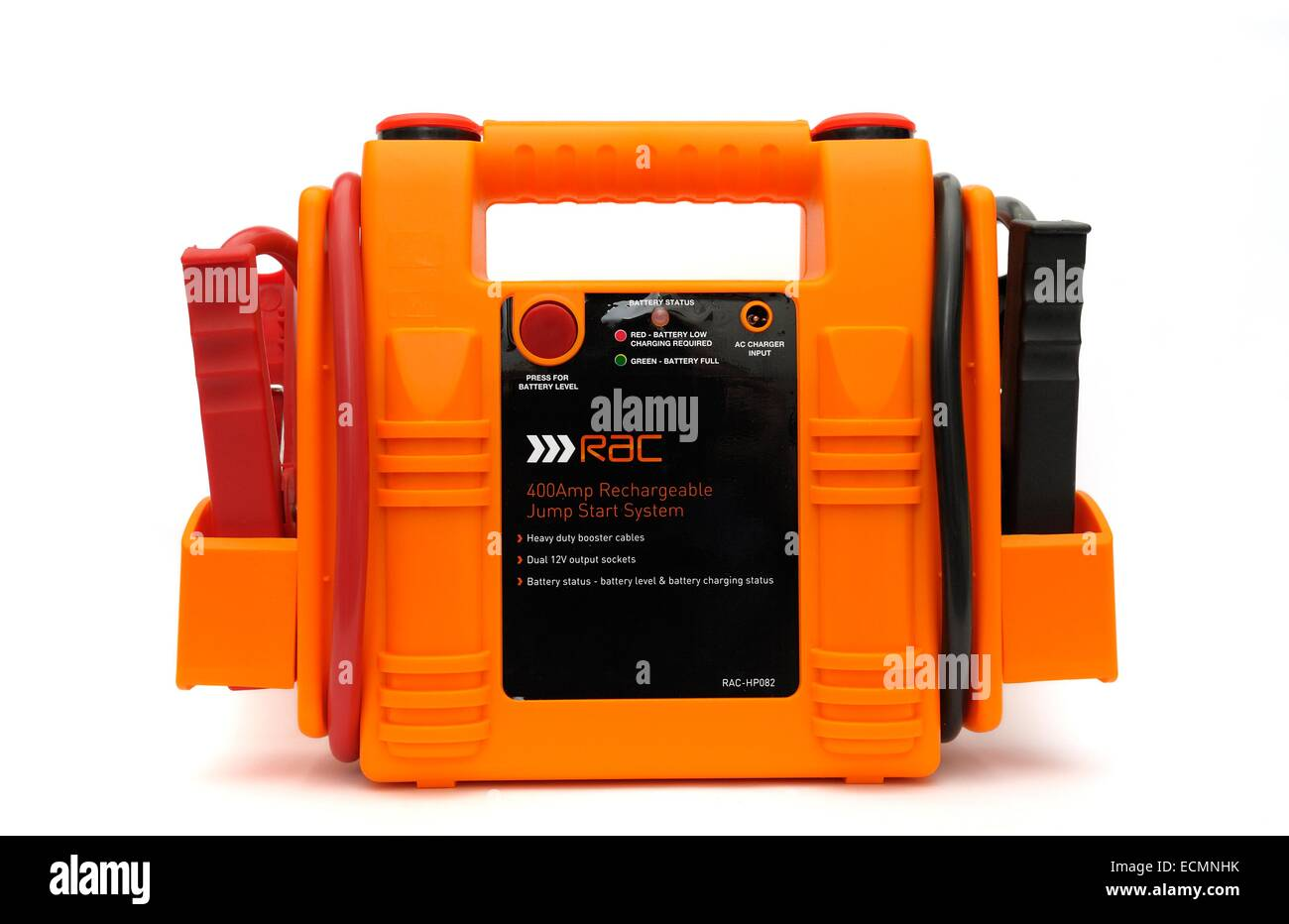 An RAC rechargeable jump start system England UK - Stock Image