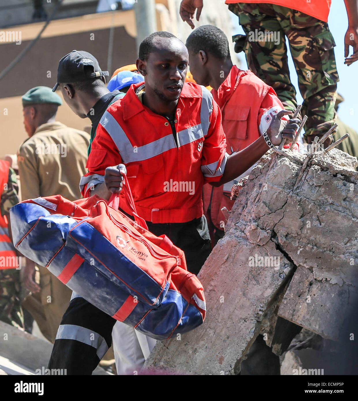 Nairobi, Kenya  17th Dec, 2014  A Kenya Red Cross worker