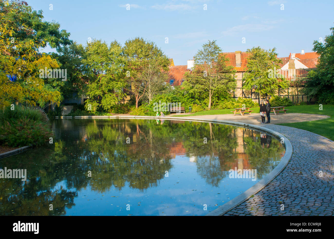 Odense Denmark Hans Christian Andersen Museum writer home and grounds Stock Photo