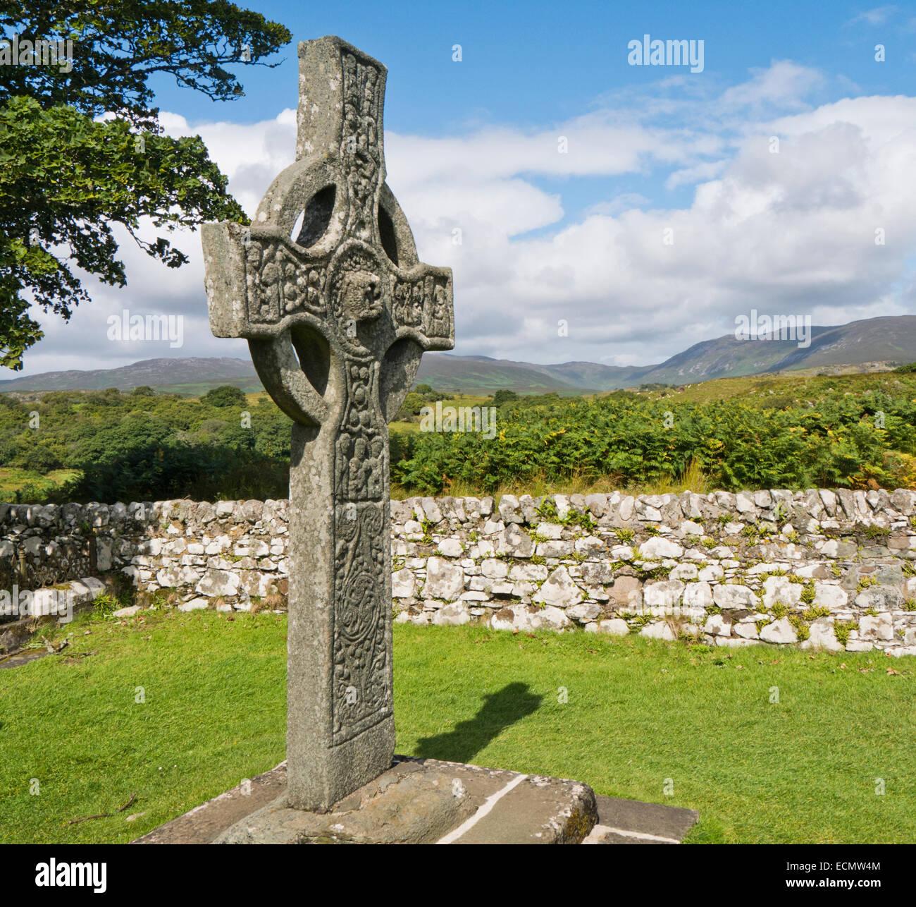 The Kidalton High Cross Islay Scotland - Stock Image