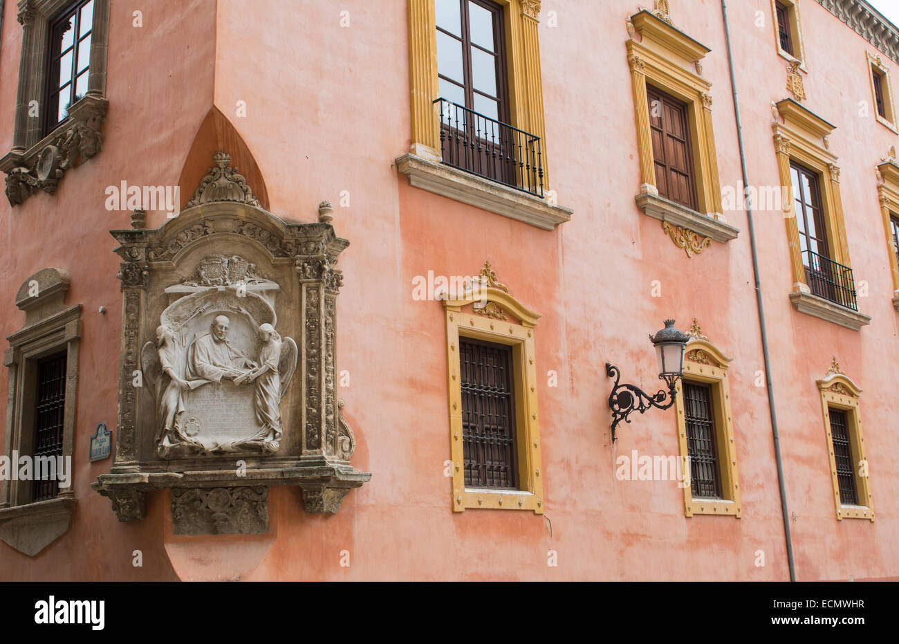 Granada Spain architecture close ups in old city and wonderful arches and windows - Stock Image