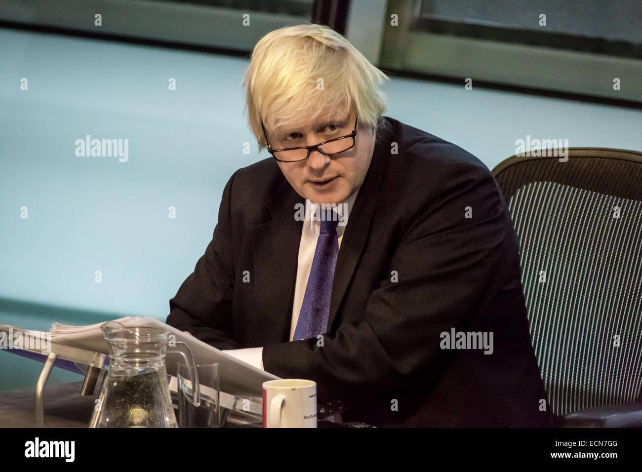 London, UK. 17th Dec, 2014.  Mayor Boris Johnson Question Time at City Hall Credit:  Guy Corbishley/Alamy Live News - Stock Image